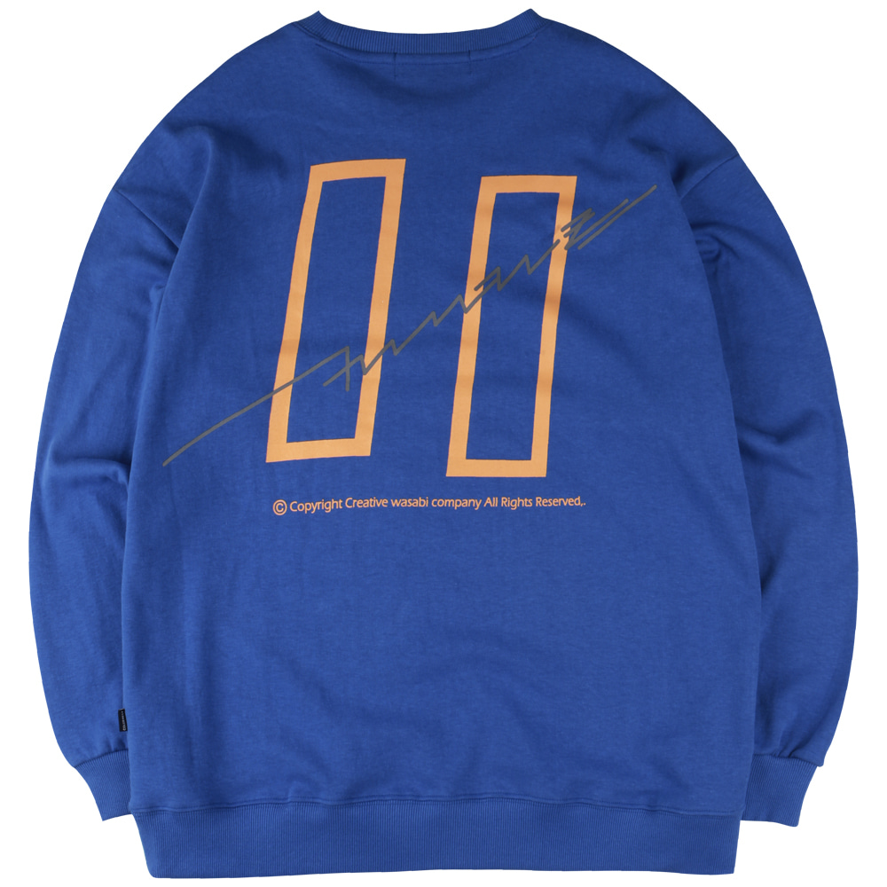 19 Signature Logo Graphic Over-Fit Sweatshirts Royal Blue