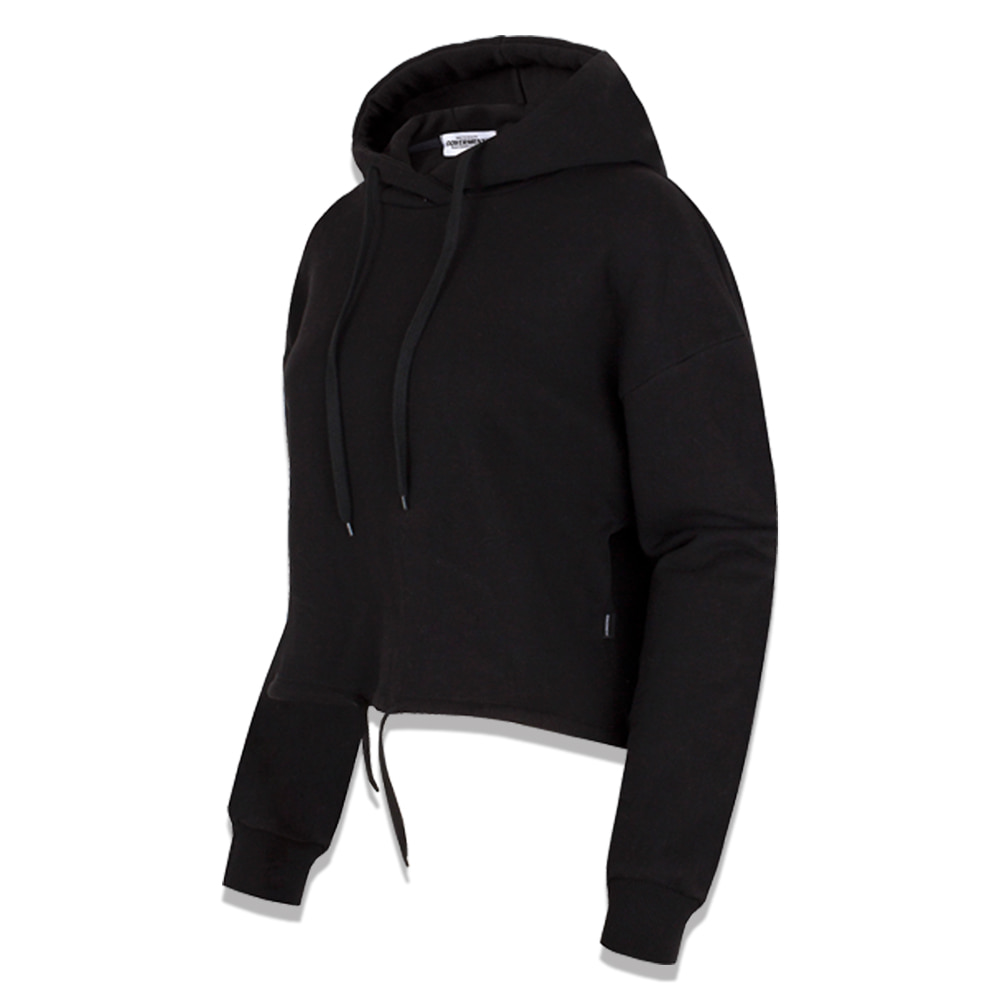 Standard Basic Over-Fir Crop Hoodie Black