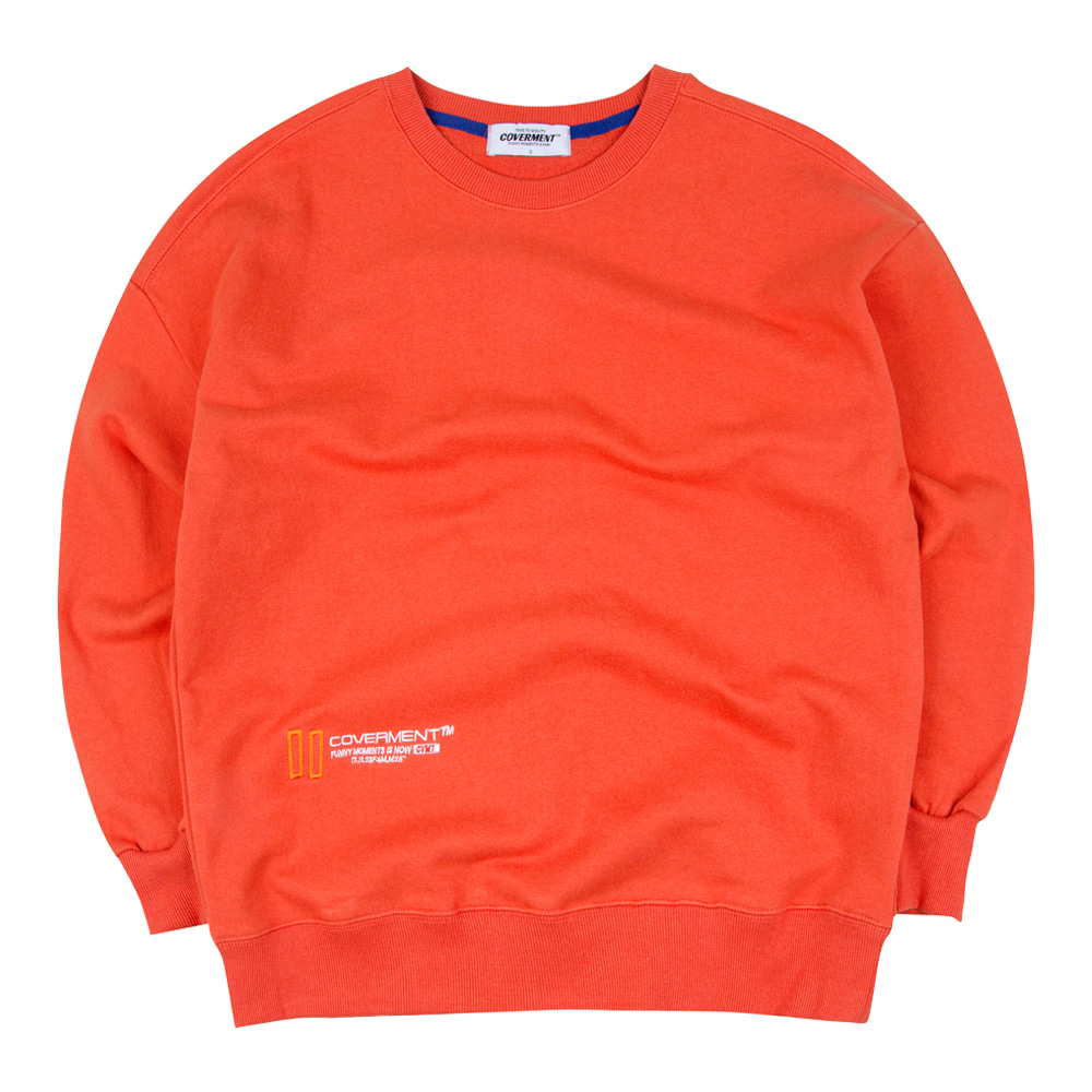 New Hold Logo Over-Fit Sweatshirts Orange