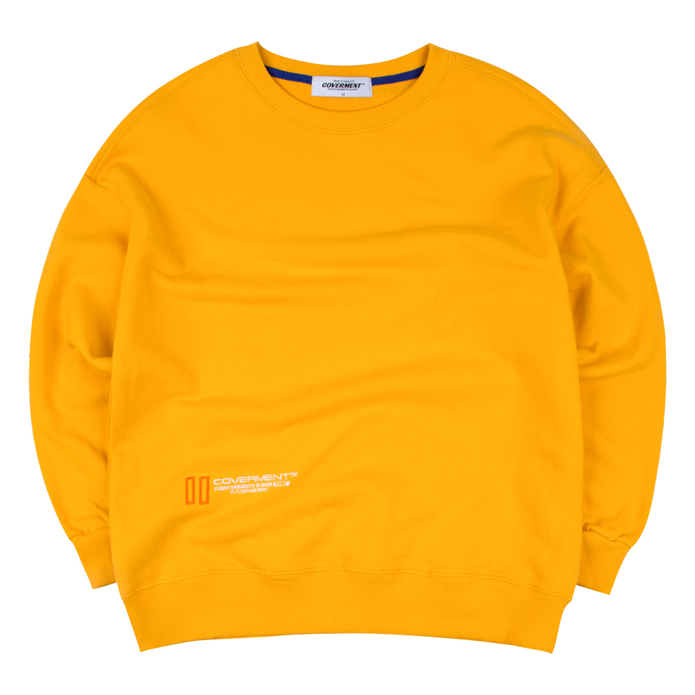 New Hold Logo Over-Fit Sweatshirts Yellow