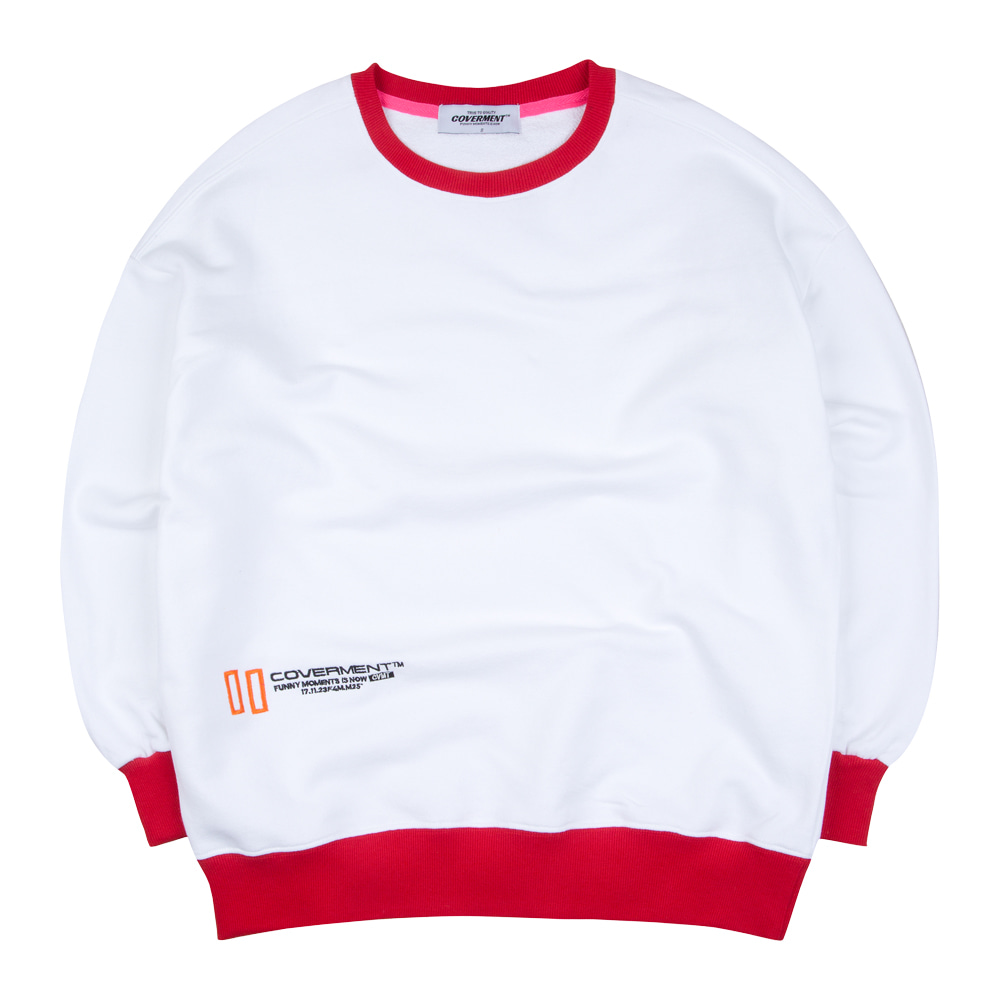 New Hold Logo Over-Fit Sweatshirts White