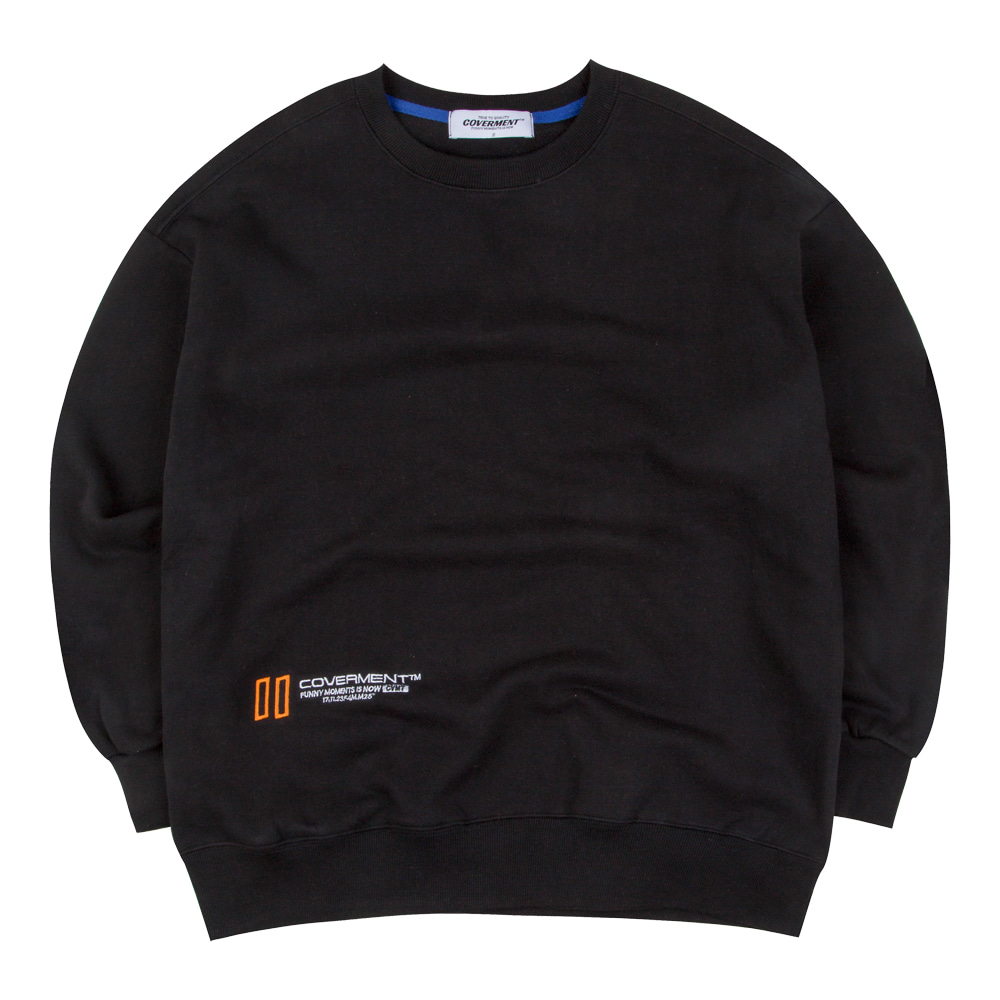 New Hold Logo Over-Fit Sweatshirts Black