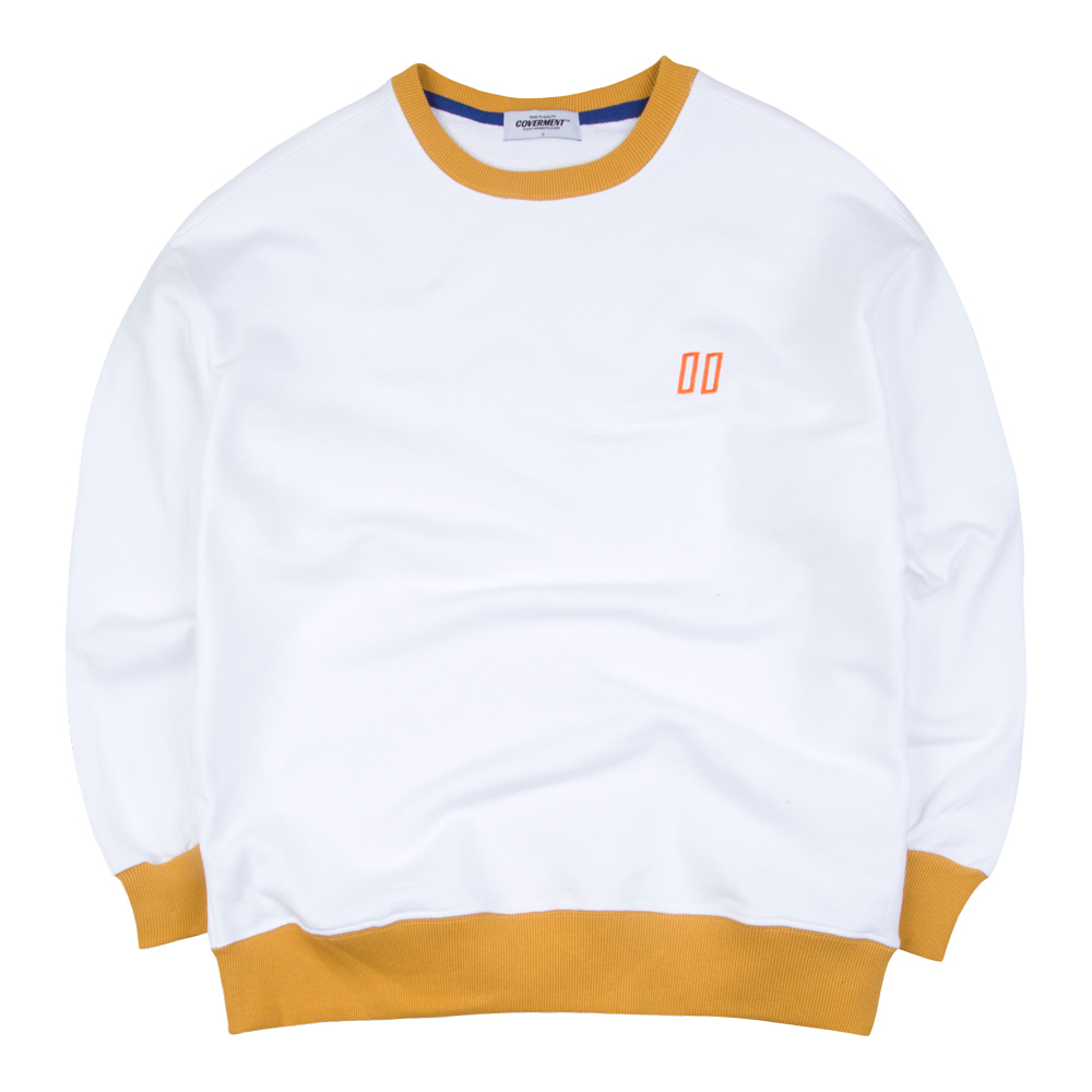 Double Square Logo Embo Over-Fit Sweatshirts White