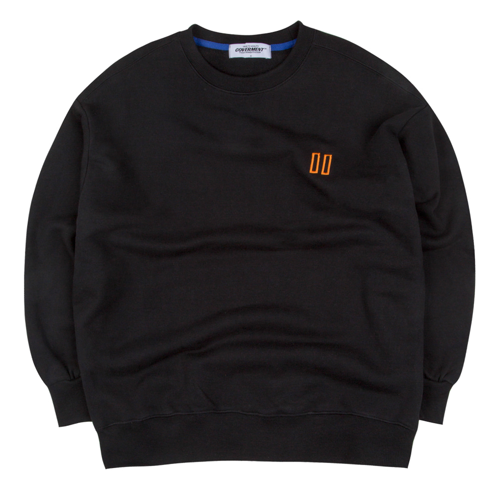 Double Square Logo Embo Over-Fit Sweatshirts Black