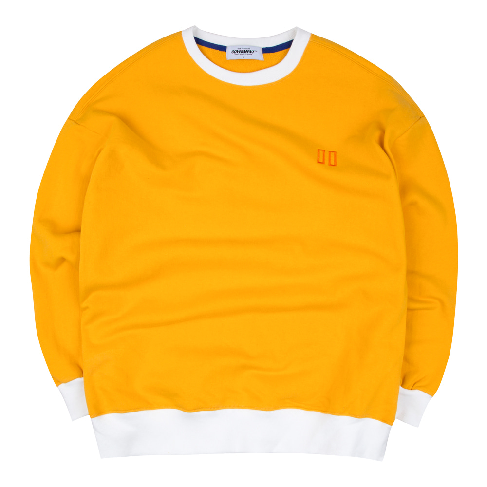 Double Square Logo Embo Over-Fit Sweatshirts Yellow
